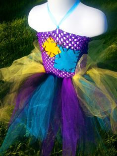 Sally Tutu Dress Costume Nightmare Before Christmas Size 1 Year - 9 Years