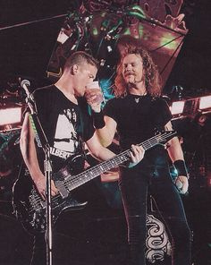 Jason Newsted and James Hetfield of Metallica