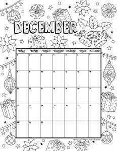 Printable Coloring Calendar For 2020 And 2019 Kids Calendar