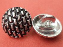 6 Metallknöpfe silber 12mm (4096) Knöpfe Metall