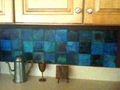kitchen backsplash done with magnetic colorblox
