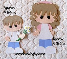 Boy Flowers for Mommy Paper Piecing Set...punches???#Repin By:Pinterest++ for iPad#