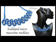 Scalloped micro macrame necklace - YouTube