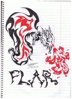 Flareon Tribal by ofekwaiz.deviantart.com on @deviantART
