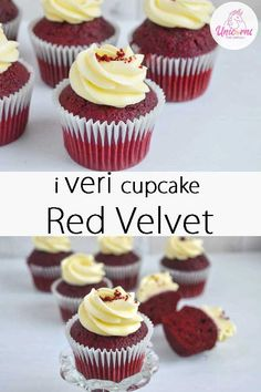 Best Red Velvet Cupcake Recipe, Easy Red Velvet Cupcakes, Fancy Cupcakes, Sugar Cookie Frosting, Best Sugar Cookies, Cupcake Recipes, Cupcake Cakes, Torte Cake, Party