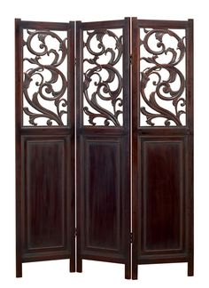 Cherry wood dressing screen..I think dressing screens so nice to divide open spaces