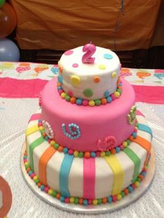 Dora in Candyland Birthday Cake