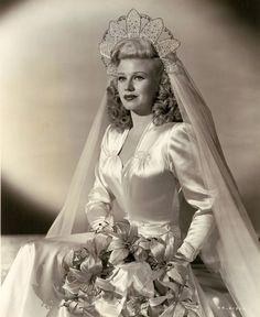 Vestido de noiva anos 40, casamento, Maria Montez atriz