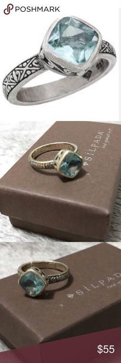 Silpada Ring Silpada Frozen Lake Ring.  NWOT - Display Item Silpada Jewelry Rings