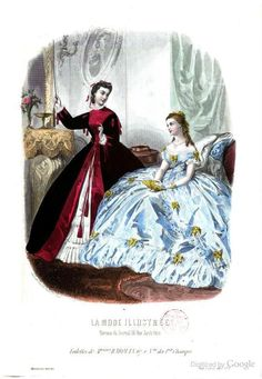 Robe de chambre in black velvet, lined and faced with cerise satin. Tea Gown, Civil War Dress, Victorian Costume, Light Dress, National Gallery Of Art, House Dress, Dress Picture, American Civil War, Historical Clothing