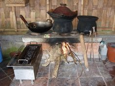 Traditional, outdoor Balinese kitchen...A wonderful space to create a delicious meal!
