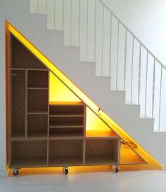 Gosia O's media content and analytics Cabinet Under Stairs, Closet Under Stairs, Staircase Storage, Stair Storage, Grey Hallway, Waka Waka, Home Organization Hacks, House Stairs, Home Upgrades