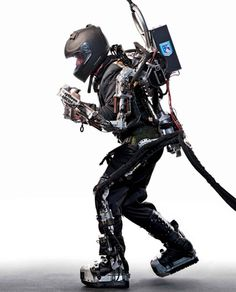 While audiences flood theaters this month to see the comic-book-inspired Iron Man, a real-life mad genius toils in a secret mountain lab to make the mechanical superhuman more than just a fantasy with the XOS Exoskeleton