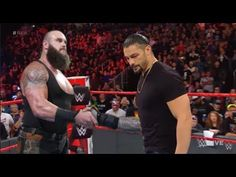 Roman Reigns shows respect to Braun Strowman Reign Show, Braun Strowman, Seth Rollins, Roman Reigns, Wwe Superstars, Respect, Empire, Fictional Characters, Fantasy Characters