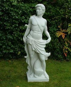 Orion & Dog Sculpture Large Garden Statue Ornament. Buy now at http://www.statuesandsculptures.co.uk/large-garden-statues-ornament-orion-dog-sculpture