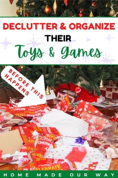 Learn about toy fatigue and how you can use that to declutter your child's toys and games. Then check out tips to help you organize and store their favorite toys. #toys #organize #declutter #games Declutter, Organize, Toy Organization, Toy Storage, Clever Diy, Legos, Board Games, Playroom, Kids Toys