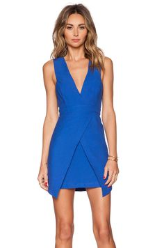 Finders Keepers Basic Instinct Dress in Cobalt