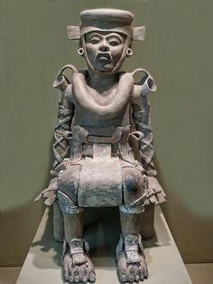 Seated Figure from Veracruz, Mexico 800-1200 CE Ceramic