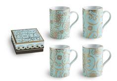 Arabesque Mugs Set of 4