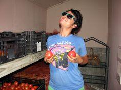 I grow tomatoes with Stephanie Thomas! at Spring Creek Farm Grow Tomatoes, Spring, T Shirt, Women, Fashion, Supreme T Shirt, Moda, Tee Shirt, Fashion Styles