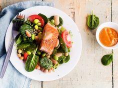 Lohi-papusalaatti / Salmon salad / Kotiliesi.fi / Kuva/Photo: Sampo Korhonen/Otavamedia
