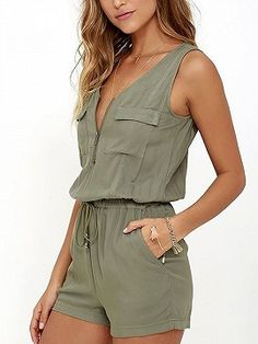 2018 Summer Beach Rompers Womens Jumpsuit Front Zipper Sleeveless Sexy Bodysuit Slim Fit Playsuits Solid Overalls Plus Size S-XL Short Playsuit, Short Jumpsuit, Jumpsuit Shorts, Bodycon Jumpsuit, Short Overalls, Backless Jumpsuit, Strapless Jumpsuit, Playsuit Romper, Romper Pants