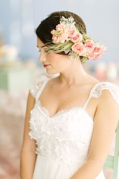 Pastel Bridal Inspiration Shoot  Read more - http://www.stylemepretty.com/2014/02/18/pastel-bridal-inspiration-shoot/
