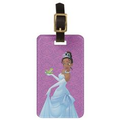 Tiana Loyalty Is Royalty Luggage Tag , Wedding Color Schemes, Wedding Colors, Frog Princess, Custom Luggage Tags, Luggage Straps, Standard Business Card Size, Leather Luggage, Loyalty, Vector Design