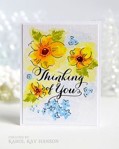 Water colored card using PTI stamps