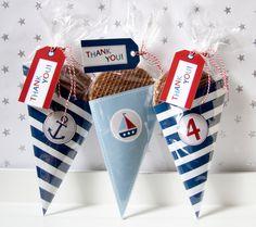 Nautical - Candy/Cookie Cone - Birthday Boy - Custom Printable - psDre Party Printables. €4,50, via Etsy.