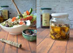 Bissen fürs Gewissen: {Rezept} Veganer Griechischer Salat mit Tofufeta und gerösteten Chiasamen