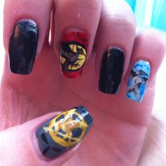 Hunger games nails for the premier!! -by Sabrina Begley