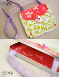 Are you looking for a fun craft idea for a little girl? This recycled craft uses an old CD tin, paper and Mod Podge to make a cute Mod Podge tin purse!