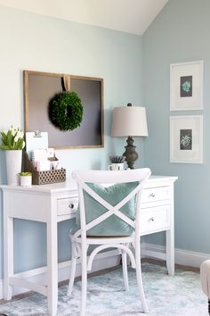 My cozy office nook is complete! Come see how we transformed this blank, boring space into a functional and beautiful office!