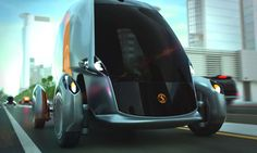 Continental 'Bee' autonomous car stands for Economy and Ecology, Driverless vehicles, smart-phone app, Robot vehicles, electrically-powered concept