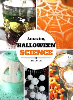 Halloween Science Activities and Halloween STEM Ideas for Kids Fall Science Experiments Science Experiments Kids, Science For Kids, Science Projects, Science Ideas, Teaching Science, Science Fun, Preschool Science, Science Centers, Stem Projects