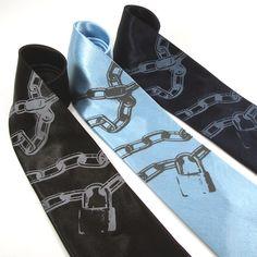 Houdini Necktie silk necktie in three color choices by projector. $30.00, via Etsy.