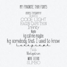 freebie: my favorite thin fonts by cesstrelle      July 21, 2012 by cesstrelle