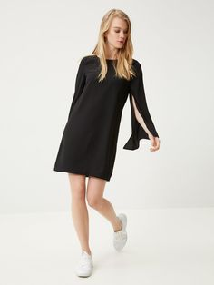 df810214 Weich fliessendes Kleid, lange Ärmel VERO MODA | La Redoute Mobile Lbd,  Bell Sleeves