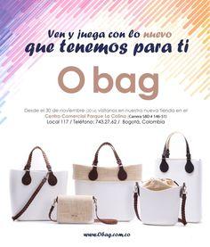 Desde el 06 de diciembre (2016) visítanos en nuestra nueva tienda en el Centro Comercial Parque La Colina / Bogotá / Local 117  www.Obag.com.co