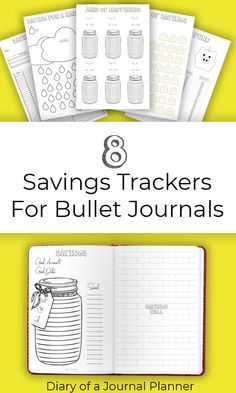8 Savings Tracker Printables For Bullet Journals. Comes with dotted background and plain. Make your savings goals happen! Bullet Journal For Beginners, Bullet Journal Hacks, Bullet Journal Printables, Bullet Journal Layout, Bullet Journal Inspiration, Bullet Journals, Journal Art, Journal Notebook, Journal Ideas