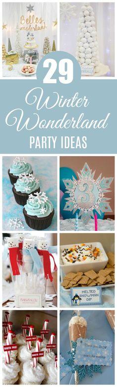 29 Winter Wonderland Birthday Party Ideas on Pretty My Party #winterwonderlandparty