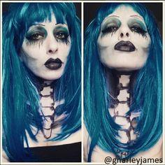 Gothic #facepaint #bodyart #makeupbymarley