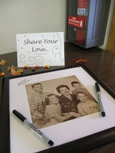 """Guests """"Share your love"""" for any type of party. WE did this at Joshs grandmas 80th birthday"""