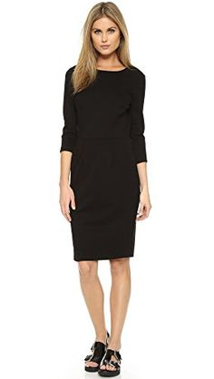 Cool Three Dots Women's Three-Quarter Sleeve Sheath Dress Three-Quarter sleeves Hidden back zipper A slim silhouette marked by smart seaming at the skirt makes this Three Dots design a classic favorite.