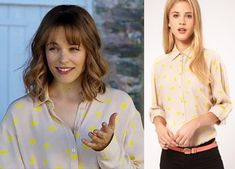 About Time movie: Mary's (Rachel McAdams) ASOS Shirt with yellow Elephant Print #abouttimemovie #abouttime #getthelook