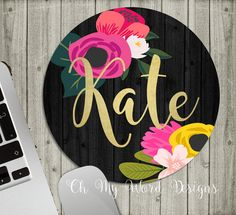 Personalized Mouse Pad-Monogram Mouse Pad-Desk by OhMyWordDesigns