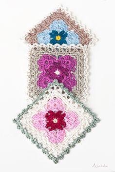 Crochet square Motif 1_2018 PDF pattern, Anabelia Craft Design