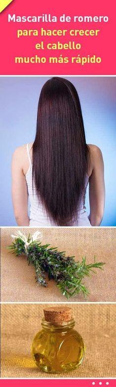 Mascarilla de romero para hacer crecer el cabello mucho más rápido