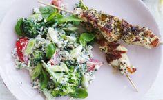 Kyllingespyd med broccolisalat